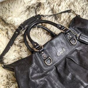 Coach Black Ashley Satchel Handbag